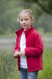 Summer holidays: young girl outdoors in nature Stock Photography