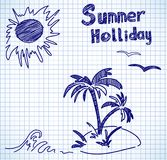 Summer holliday doodles Stock Images