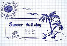 Summer holliday doodles Stock Photos