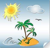 Summer holliday doodles Royalty Free Stock Photo