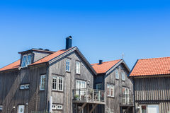 Summer home. Summer or vacation homes in Sweden stock image