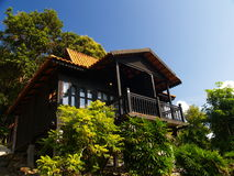 Summer Home. A summer spa home located in a luxury island resort Royalty Free Stock Photos