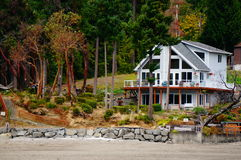 Summer home. A summer home with a great water front view Stock Photography