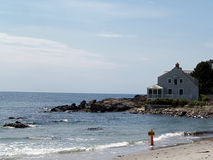 Summer home on the Ocean. This home on the Maine Shore is a perfect vacation destination Royalty Free Stock Photography