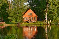 Summer Home On River Royalty Free Stock Photo