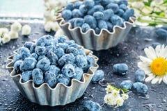 Free Summer Honeysuckle Berries In Metal Forms For Baking Stock Image - 126970191