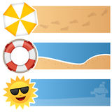 Summer Horizontal Banners Royalty Free Stock Photos
