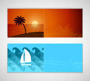 Summer horizontal banners. Stock Photo