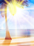 Summer hot holidays poster template. Royalty Free Stock Image