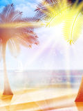 Summer hot holidays poster template. Royalty Free Stock Images
