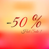 Summer hot sale -50 bright vector illustration Stock Photo