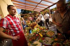Summer hotel food festival Stock Images