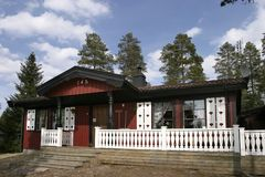 Summer house. In a forest - Sweden Royalty Free Stock Photo