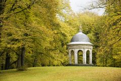 The summer house 2. A small 17th century open summer shelter for the rich in a public park (Zeist) Holland Royalty Free Stock Images