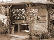 Summer house. Sepia Stock Photography