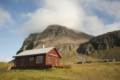 Summer House In North West Iceland Stock Photos