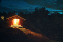 Summer house. Late summer, the summer house looks inviting Stock Photos