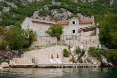 Summer house in Montenegro. Summer property in the Bay of Kotor, Montenegro Royalty Free Stock Photo