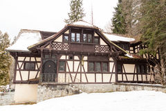 Summer house of Pelisor Castle from Sinaia, Romania Royalty Free Stock Photo