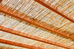 Summer house with reeds covered. Summer house covered with reeds Stock Photos