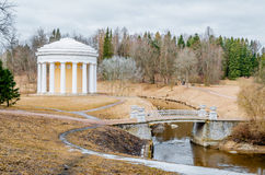 Summer house round with columns in the park Stock Photography