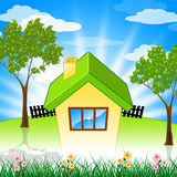 Summer House Shows Property Home And Houses Royalty Free Stock Images
