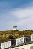 Summer house at top of rocky outcrop. Royalty Free Stock Photos
