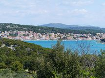 Summer houses and apartments in Croatia Stock Images