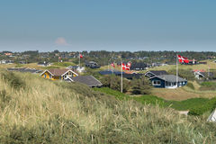 Summer houses. Area with summer houses in Blokhus Denmark Royalty Free Stock Images