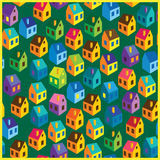 Summer houses pattern Stock Image