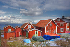Summer houses in Sweden in the archipelago Royalty Free Stock Photography