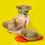 Summer hula girl stock image