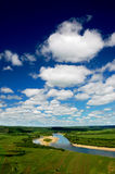 Summer Huma River scenery. Huma River is located in China's Heilongjiang Daxing'anling Royalty Free Stock Photo