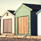 Summer huts Stock Image