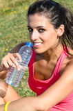 Summer hydration woman Royalty Free Stock Photo
