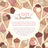 Summer ice-cream background. Royalty Free Stock Image