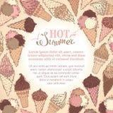 Summer ice-cream background. Royalty Free Stock Image