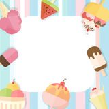 Summer ice cream background Royalty Free Stock Photo
