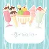 Summer ice cream background Stock Images