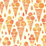Summer ice cream cones seamless pattern background Royalty Free Stock Photography