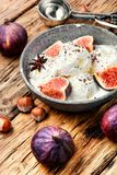Summer ice cream with figs Royalty Free Stock Photography
