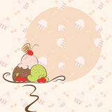 Summer ice cream invitation card Stock Images