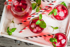 Summer iced red drink - tea or juice Stock Image