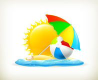 Summer icon Stock Image