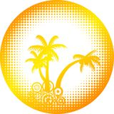 Summer icon. Royalty Free Stock Image