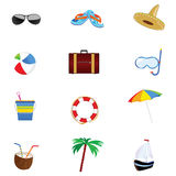 Summer icon art  part two Royalty Free Stock Photos