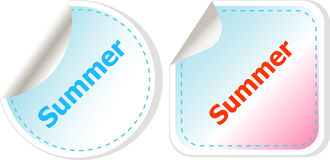 Summer icon. Internet button isolated on white background Stock Photo