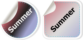 Summer icon. Internet button isolated on white background Stock Photos