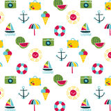 Summer Icon pattern Royalty Free Stock Photography