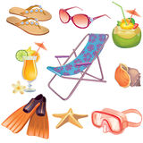 Summer icon set Royalty Free Stock Images